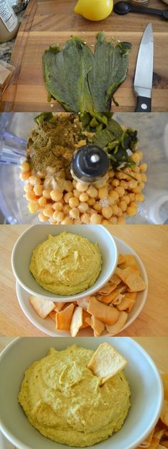 Roasted Poblano Pepper Hummus, fun twist for a Cinco de Mayo dip This will be good for when I'm in maintenance, AND on my birthday. Vegan Mexican Recipes, Veggie Recipes, Appetizer Recipes, Vegetarian Recipes, Appetizers, Cooking Recipes, Healthy Recipes, Good Food, Yummy Food