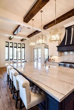 If you are looking for Rustic Farmhouse Kitchen Design Ideas, You come to the right place. Below are the Rustic Farmhouse Kitchen Design Ideas. Farmhouse Kitchen Lighting, Farmhouse Kitchen Island, Modern Farmhouse Kitchens, Rustic Kitchen, New Kitchen, Cool Kitchens, Kitchen Ideas, Rustic Farmhouse, Awesome Kitchen