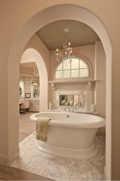 Check out that tub! What a focal point!