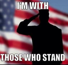 I am with those who stand, how Disrespectful is it to try and make a point at the time of honoring our flag.... F'ing football players and their owners are way overpaid and not entitled, it is a privilege to be where they are!!