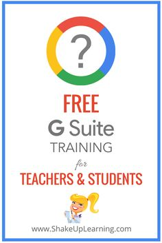 Free G Suite Training On Demand for Teachers and Students: Ready to take your Google skills to the next level? No time for extended workshops and training, but need hands-on guidance? Need an easy way to help students learn and navigate Google Classroom, Gmail, Docs, etc.?