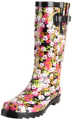 Floral Rain Boots - Cr Boot