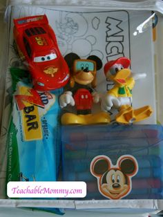 Disney World Crafts, Travel Bags for kids, kid crafts on the go, Disney Crafts