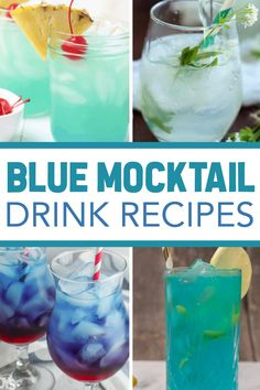 You're going to love the variety of Super Tasty Blue Mocktail Recipes! All are sweet, simple, and of course - blue in color! Fun for parties and gatherings! #punchrecipes #partyrecipes #mocktailrecipes #3boysandadog Mocktail Drinks, Cocktail And Mocktail, Sparkling Drinks, Fruity Drinks, Hawaiian Punch Recipes, Punch Recipes For Kids, Hawaiian Cocktails, Party Punch Recipes, Cocktails
