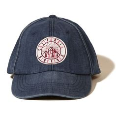 99b3728a6 Hollister Patch Denim Baseball Cap ( 15) ❤ liked on Polyvore featuring  accessories