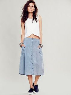 Marina Buttondown Skirt, can't do the peek a boo shirt, but I want that skirt