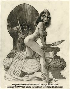From *Mark Schultz: Various Drawings Volume 3.* Guessing, I'd say this is Dejah Thoris and John Carter.