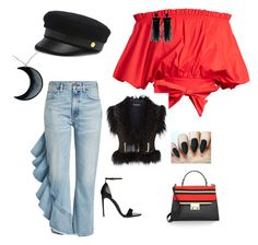 red black police outfit by alexandra-serban-1 on Polyvore featuring polyvore fashion style Saloni Balmain Citizens of Humanity Kate Spade Curiology Oscar de la Renta Henri Bendel clothing Police Outfit, Citizens Of Humanity, Henri Bendel, Red Black, Balmain, Polyvore Fashion, Kate Spade, Clothing, Outfits
