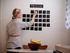 DIY: Chalkboard Wall Calendar