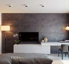 The apartment is 100m in Skyport, Архитектурное бюро Александры Федоровой