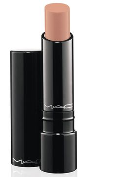 """MAC sheen supreme lipsticks are the best! I'm normally a lip gloss kinda gal, but my friend who works at MAC told me to try this! I love the texture...its not dry, it has the feel of glass and isn't sticky either! Great consistency and so many shades. I have the Sheen Supreme in """"Bare Again""""...it looks exactly like this, but a hint of pink to it. It's a nude color. Looks good day or night!"""