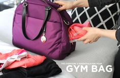 If you have it packed, there are fewer excuses for missing a working out!   What to Pack: Essentials for Your Gym Bag // sneakers // gym clothes