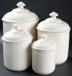 Your Favorite Brands Canisters To Casseroles 4 Piece Canister Set (Box Set)