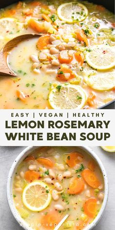 Vegetarian Recipes, Healthy Recipes, Vegan Soups, Vegetarian Crockpot Soup, Vegan Bean Soup, Healthy Fall Soups, Easy Vegan Soup, Healthy Comfort Food, Crockpot Recipes