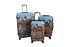 Heys Fazzino New York 3 Piece Luggage Spinner Set, 22-26-30″  http://www.alltravelbag.com/heys-fazzino-new-york-3-piece-luggage-spinner-set-22-26-30-2/