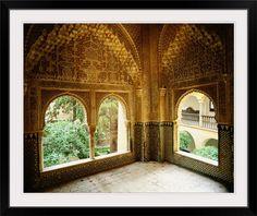 Spain, Andalucia, Granada, Alhambra, Palacio de los Leones, palace
