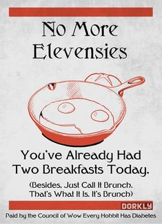 Elevensies -- Middle Earth PSAs
