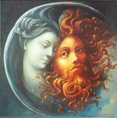 Hermosa imagen de la hermamdad y de la brillantes. Some say that when there's an Eclipse it's the Sun God and Moon Goddess embracing. -- I was born on the same day as a total solar eclipse. Sun Moon Stars, Sun And Stars, Magick, Witchcraft, Symbole Viking, Moon Goddess, Goddess Art, Moon Art, Book Of Shadows