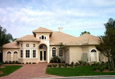 Florida Plan: 2,645 Square Feet, 3 Bedrooms, 3.5 Bathrooms - 1376-00001