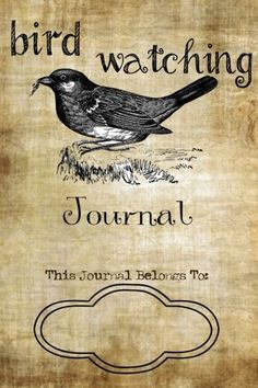 A Bird Journal With Printable Pdf Page Template Including
