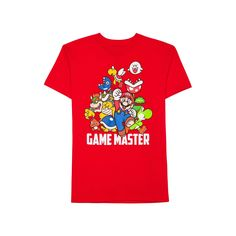 Boys 8-20 Super Mario Bros. Tee, Boy's, Size: Small, Brt Red