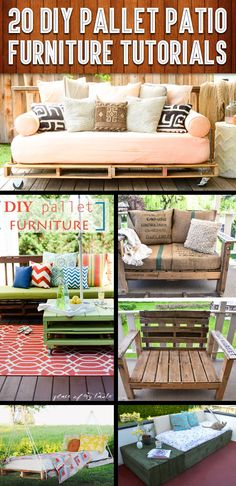 20 DIY Pallet Patio Furniture Tutorials For A Chic And Practical Outdoor Patio – 2019 - Patio Diy Pallet Patio Furniture, Corner Furniture, Furniture Projects, Diy Furniture, Outdoor Furniture Sets, Furniture Layout, Modern Furniture, Pallet Couch, Furniture Online