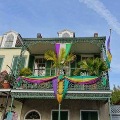 Mardi Gras balcony in French Quarter