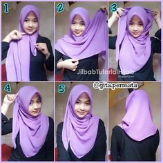 Stylish Hijab, Hijab Casual, Hijab Chic, Hijab Outfit, Square Hijab Tutorial, Simple Hijab Tutorial, Hijab Style Tutorial, How To Wear Hijab, Hijab Fashion Inspiration