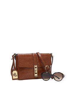 Darwin Leather Cross-Body Bag - Crossbody Bags  Handbags - RalphLauren.com