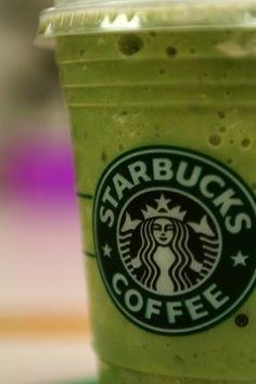 starbucks green tea frapp...mmmm