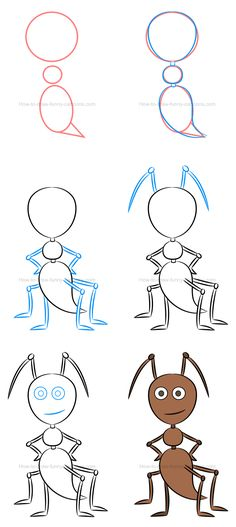 how to draw an ant and play with colors