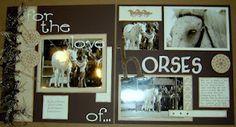 For the love of horses scrapbook page