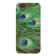Elegant Peacock iPhone 5 Covers - stunning colorful feathers! #iphone #iphone5 #apple #iphone5s
