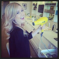 Buttercup with our San Diego stylist Cody! #hair #blowouts #drybar