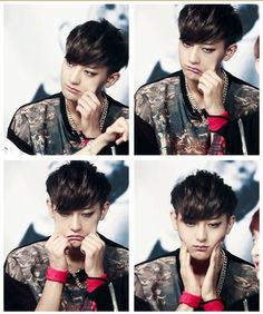 EXO Tao squishy mode on. I cannot stop smiling at this, he's so cute:3♡ #exo #zitao #tao