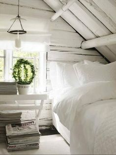 white gray bedroom scheme