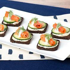 Essayez cette délicieuse recette de Délices au pumpernickel et au saumon fumé dès aujourd'hui !