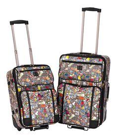 look at this fun sydney love kickinu0027 it 2 piece luggage set fun prints pinterest sydney