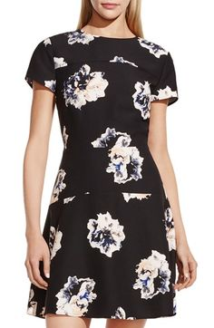 Vince Camuto 'Duet Floral' Fitted A-Line Dress available at #Nordstrom