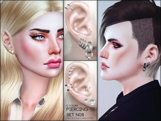 The Sims Resource: Piercing Set N08 by Pralinesims • Sims 4 Downloads