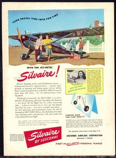 1947 SILVAIRE All Metal Aircraft Luscombe Airplane Corp Aviation AD