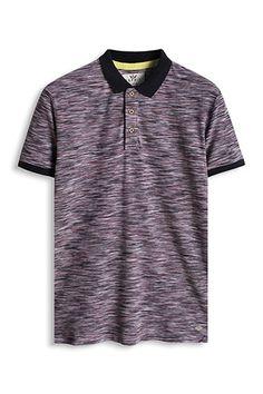 Esprit / Straight piqué polo shirt, 100% cotton
