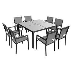 Deuba Salon de jardin pliant style bistrot avec 2 chaises et 1 table ...
