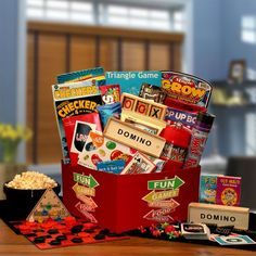 This exlusive gift basket is filled with hours of boredom busting fun for the…