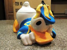 Donald Duck Cookie Jar made in China by Disney