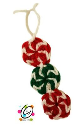 "CAL 2014: DAY 2 – PEPPERMINT CANDIES - While planning the countdown calendar I knew I needed peppermints and candy canes. These little peppermints by ""Petals to Picots"" are the quickest little thing you will ever make. She has step by s..."