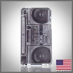 CellXpressions™ 80s Retro Boombox Stereo Radio hard case cover iPod Touch 4 4G