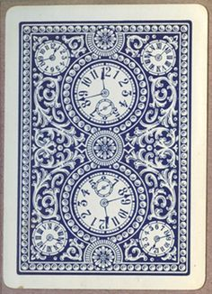 Consolidated Card Co : Bee 92 - Back n°203 (blue)