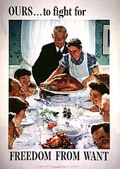 The Four Freedoms:Freedom from Want  Norman Rockwell