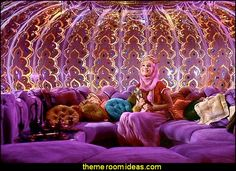 I dream of Jeannie bottle theme decorating ideas http://girlsthemebedrooms.com/moroccan/IDreamofJeannieBedroom-moroccan-style-decorating.html